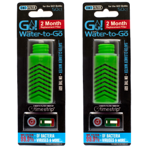 Water-to-Go Replacement Filters for the 50cl Water Bottle In Green
