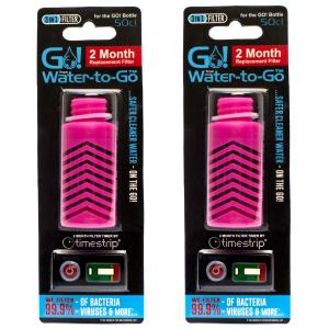 Water-to-Go-Ersatzfilter für die 50-cl-Wasserflasche in Pink